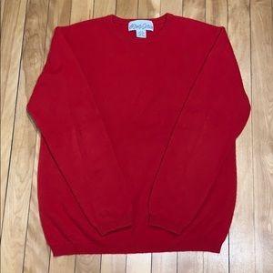 Alexa Grace Red Classic Cashmere Sweater